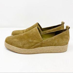 Vince Saxon Suede Espadrille Platform Sneaker 9.5